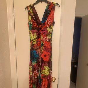 Floral dressy maxi dress